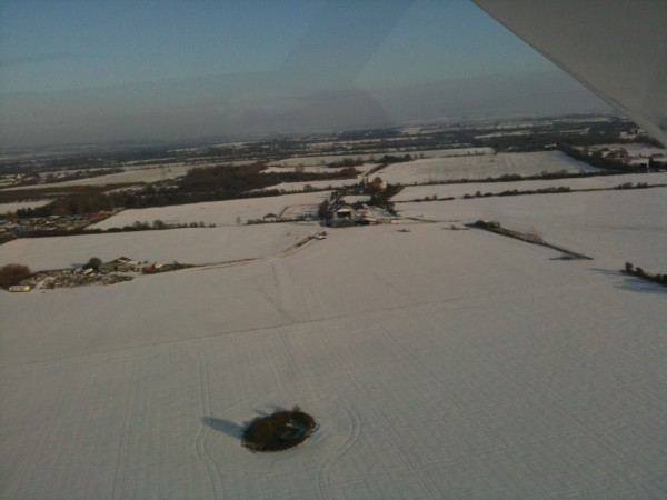 trial flight in a microlight aircraft